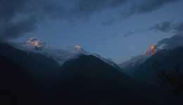 Annapurna range / Himalayas, Nepal, march 2016