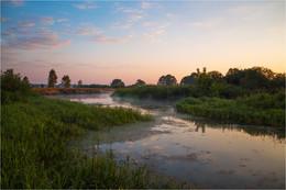 Рассвет на реке / Природа Беларуси