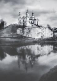 == / Витебск. Вид на Успенский собор в апреле.