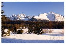Зима и горы... / Словакия, Штрбское озеро, вид на Высокие Татры
