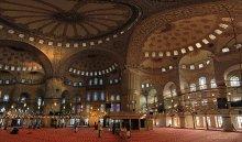 Голубая мечеть / 16 вертикальных кадров в три ряда