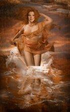 Почти Афродита... / портрет на заказ для любительницы моря