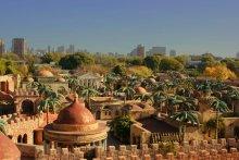 """сказочный город / вид на Буэнос-Айрес с горы тематического парка """"Santa Tierra"""""""