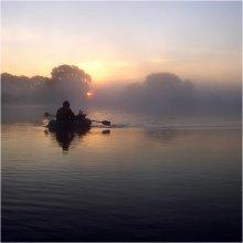 Утренняя рыболовная / озеро