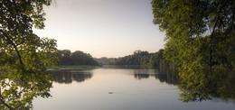 На закате -вид на пруд / Вечер на берегу