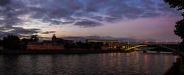 Огни Москвы / Вид с Андреевской набережной. Осень.