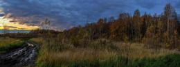 Последние лучи / Осенний закат в Подмосковье