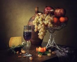 Натюрморт с молодым вином / классический натюрморт