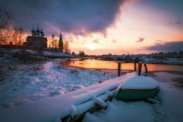 """Холодный вечер Ноября... #3 / 6 ноября, зима полным ходом -8° Серия работ фотопроекта """"Дунилово, четыре времени года."""""""