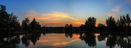 Тёплый закат / Воспоминание о лете. Софрино, рыбные пруды