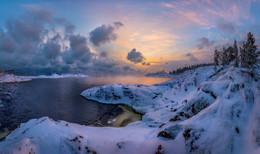 Зарево рассвета / Карелия. Ладожское озеро. Январь, 2016.  Приглашаю в свой авторский фототур по зимнему Ладожскому озеру.