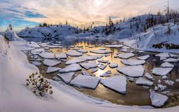 Льдины в бухте / Карелия. Ладожское озеро.  Приглашаю в свой авторский фототур по зимнему Ладожскому озеру.
