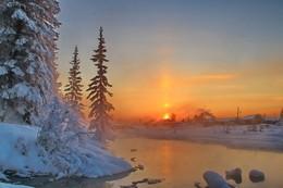 вечерние сказки... / Иркутская область Казачинско-Ленский район (вечерний морозец -35)