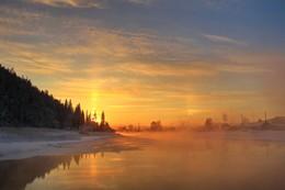 в лучах заката / Иркутская область Казачинско-Ленский район вечерний морозец - 35