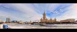 Городская панорама. Москва. / Главное архитектурное сооружение в кадре - это Radisson Royal Hotel (гостиница Украина).