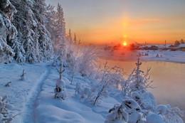 морозные тропинки... / Иркутская область Казачинско-Ленский район вечерний морозец - 35