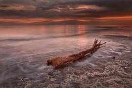 Пасмурный рассвет / Декабрь, Мёртвое море, рассвет.