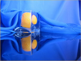 Оранж... / синий и оранжевый