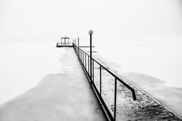 / Белое озеро ,пантон ,снегопад