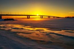 Без названия / Архангельск, мост через реку Северная Двина, январь 2017г