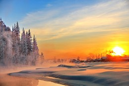 зимние вечера в Сибирской деревеньке... / Иркутская область Казачинско-Ленский район