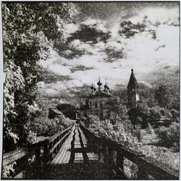 Церковь в Устюжне летом 2010, отпечаток лит-принтный / Церковь в Устюжне летом 2010