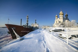 Северный порт Архангельск / 25 января 2017г Архангельск