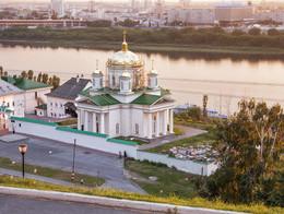 Благовещенский монастырь (Нижний Новгород) / Вид на монастырь и город.