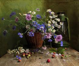 Однажды летом / лето, земляника, цветы