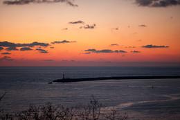 закат над Черным морем / Январь.