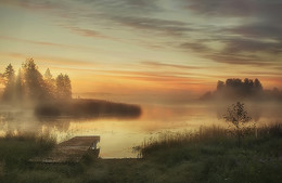 ..на озере.. / рассвет на озере Шлино..