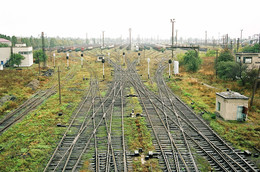 Перспективная пятница / Станция Ясиноватая, Донецкая область, Украина.  Снято на пленку в октябре 2006 г.