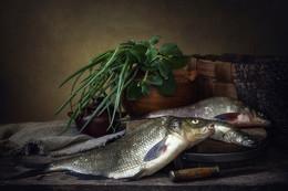 Натюрморт с рыбой / классический натюрморт