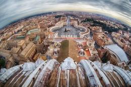 Районы, кварталы, жилые массивы / Рим с собора Святого Петра