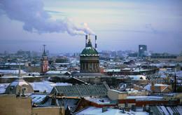 Районы, кварталы, жилые массивы / Санкт-Петербург в морозный день (t - 26`C)