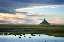 Last light / Last light on the Mont St Michel (Normandy / France)