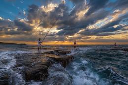 Рыбаки на закате / 2016г.