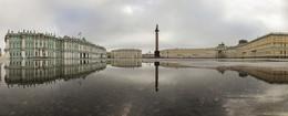 Венеция на Дворцовой / Отражение в луже.