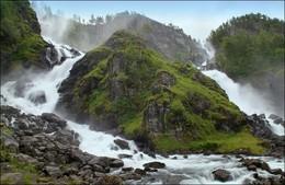 Без названия / Норвегия, водопад