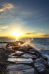 Рассвет над морем / Италия, Савона.