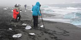 Делу время / Съемка льдов на побережье Исландии