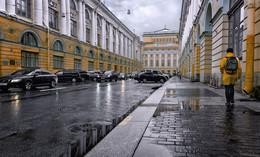 После дождя. / Улица Зодчего Росси.