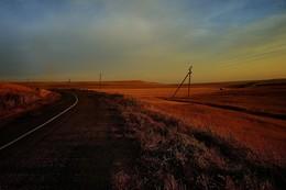 Крым. Степь. Дорога / Больше фото по ссылке: http://steklo-foto.ru/photogellary