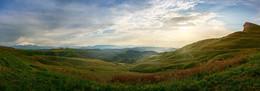 Панорама с перевала Гумбаши. / Красоты Кавказа