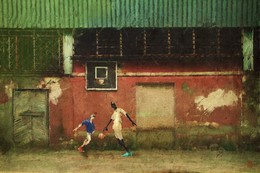 "баскетбол на ""Весне"" / corel painter + фотографии"
