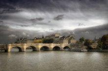 Париж, Сена / Вид на Новый мост и Сите