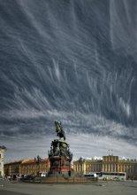Петербург_02_01 / Паматник Николаю I, другой вариант; три горизонтальных кадра