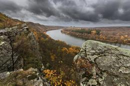 Дождливый день 22 октября. Вид на Донец и терриконы шахты-35 / ***