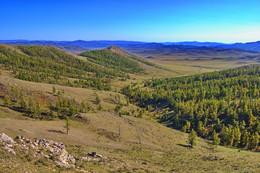 Монгольские просторы / Вид с высокой сопки