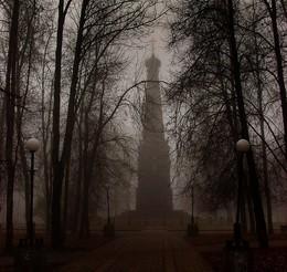 Город спит / раннее утро, туман